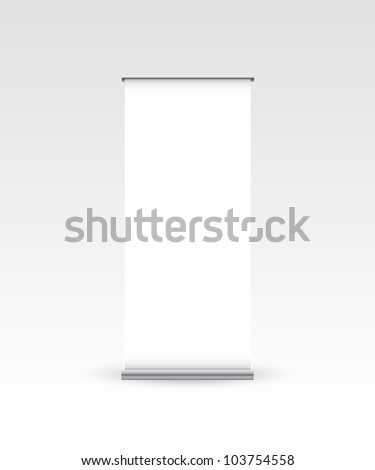 Blank roll up banner - Vector EPS10