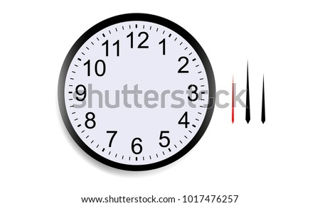 blank round clock face with