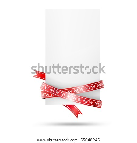 Blank sale tag. Vector illustration - stock vector