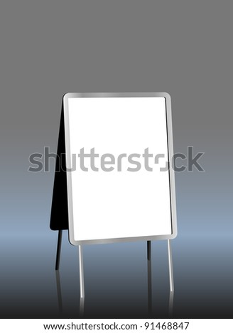 blank sandwich board, free copy space, vector illustration