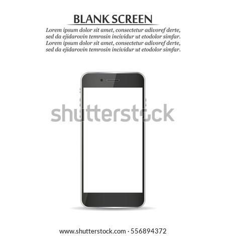 blank screen black smartphone