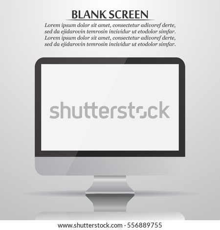 blank screen computer monitor