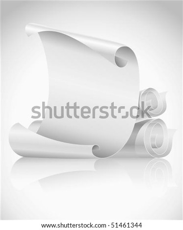 blank scroll clip art. stock vector : lank scrolls