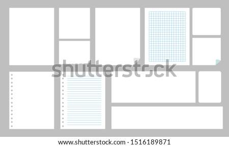 Blank Sheet Blank paper block note vector set