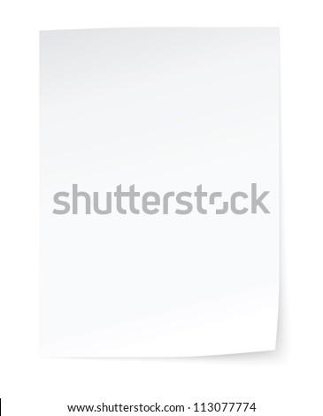 blank sheet of paper 商業照片 ©