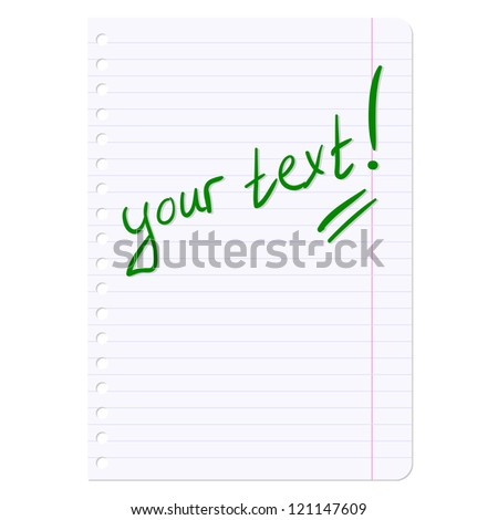 Blank sheets of paper sheet in line. Vector illustration.