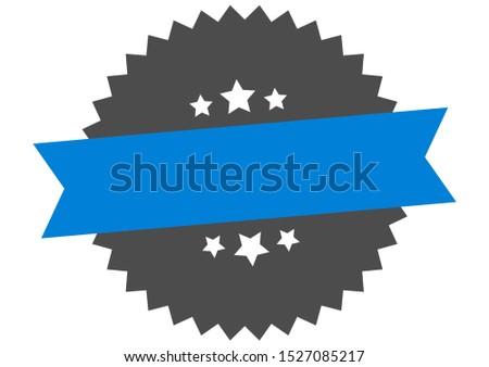 blank sign. blank blue-black circular band label