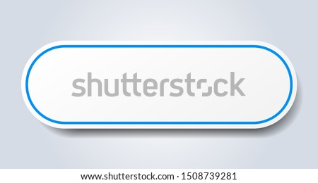 blank sign. blank rounded blue sticker. blank
