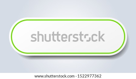 blank sign. blank rounded green sticker