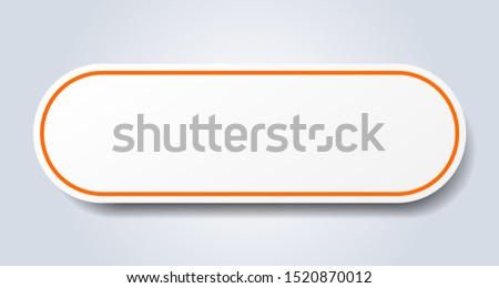 blank sign. blank rounded orange sticker. blank