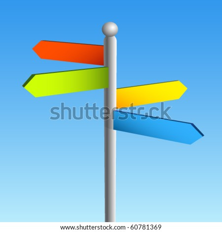 blank signpost. stock vector : lank sign post