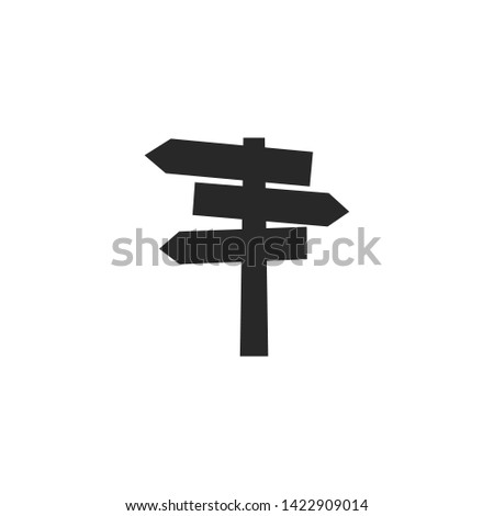 blank signs pointing in opposite directions. direction arrow sign vector illustration
