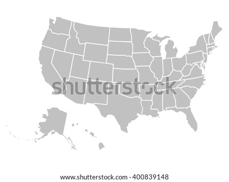 United States Map Vector Download Free Vector Art Stock - Us map with the states