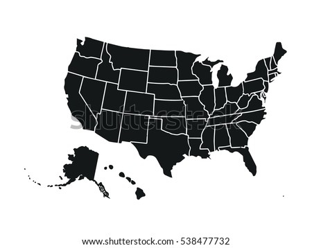 United States Map Vector Download Free Vector Art Stock - Usa on the map