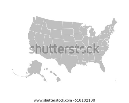 Blank outline map of usa download free vector art stock blank similar usa map isolated on white background united states of america country vector pronofoot35fo Image collections