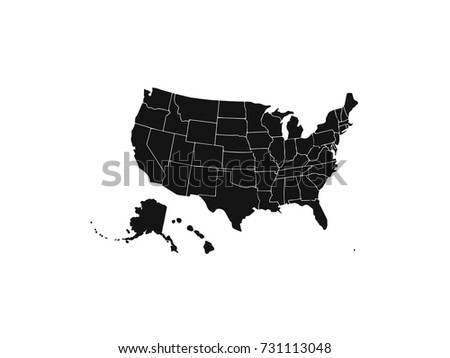 Blank Outline Map Of USA Download Free Vector Art Stock - Usa map graphic