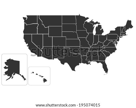 Free US Map Silhouette Vector - Us map silhouette