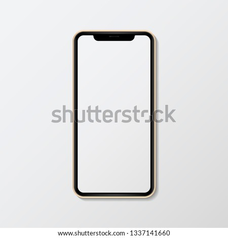 Blank smartphone screen mockup illustration