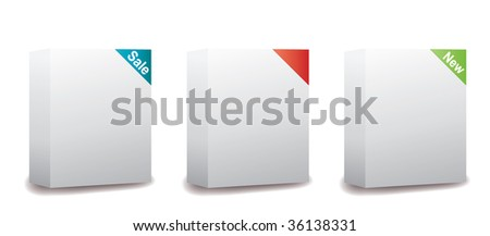 Blank Software Package Boxes - stock vector
