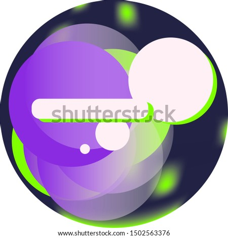 blank space in circles, dark, purple and green background element. Vector illustration element.