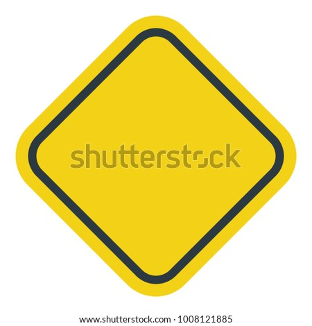 Blank Square Warning Sign #1008121885