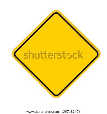 Blank Square Warning Sign. Vector illustration. on white background #1257182476