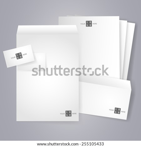 blank stationery and corporate