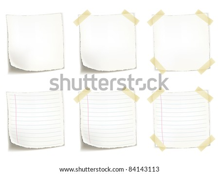 Blank Sticker Isolated on White Background. Vector EPS8.