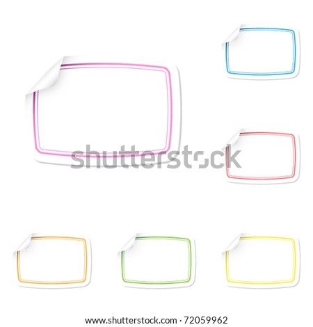 blank stickers with multicolor frames