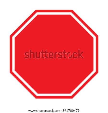Blank Stop Sign #391700479