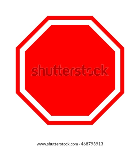 Blank stop sign. #468793913