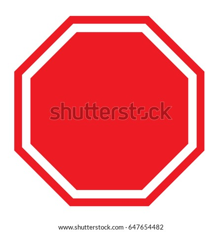 Blank Stop Sign #647654482