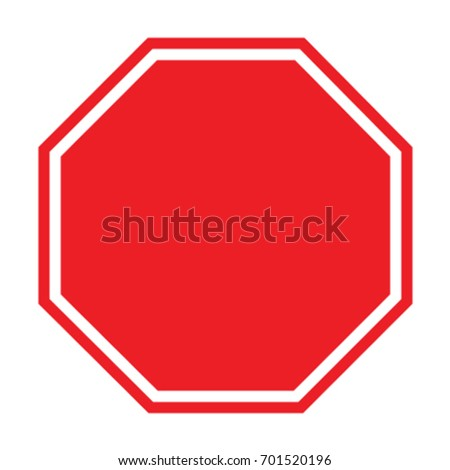 Blank stop sign #701520196