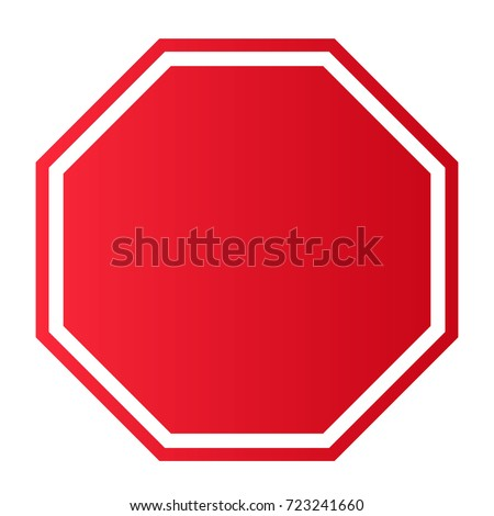 Blank Stop Sign #723241660