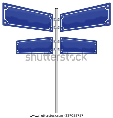 blank street sign street signs