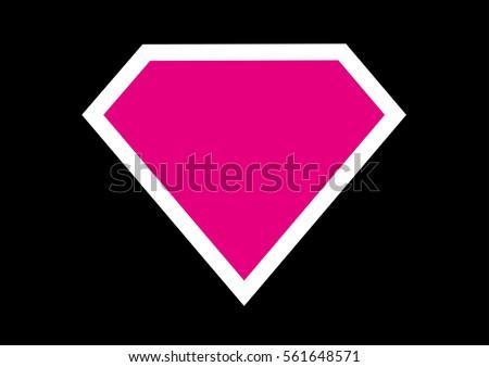 blank superhero badge vector