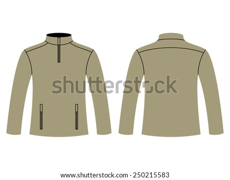 Vector Images Illustrations And Cliparts Blank Sweatshirt Template