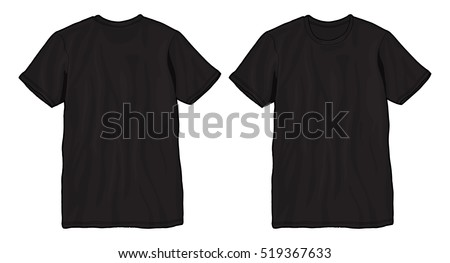 blank t shirt template black t