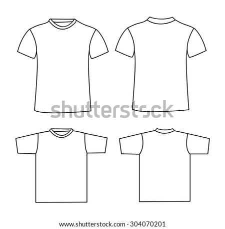 Free Raglan T-Shirt Template Vector - Download Free Vector Art