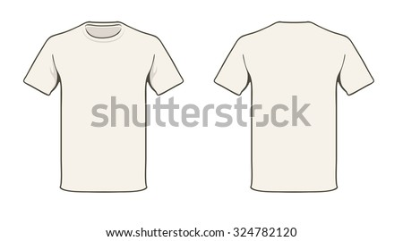 blank t shirt template solid