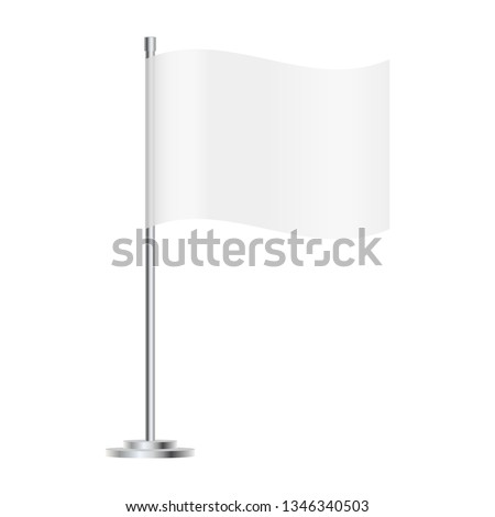 blank table flag isolated on white background #1346340503