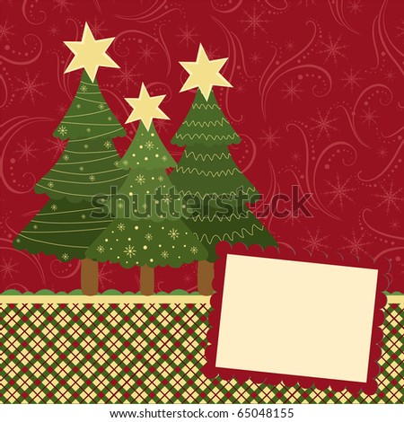 Blank template for Christmas greetings card, postcard or photo frame (EPS10)
