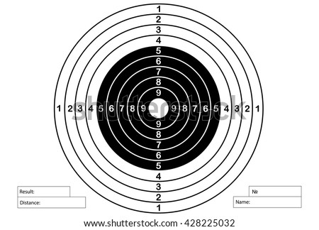 Royalty free gun shooting target for printing 139648487 for Bullseye template printable