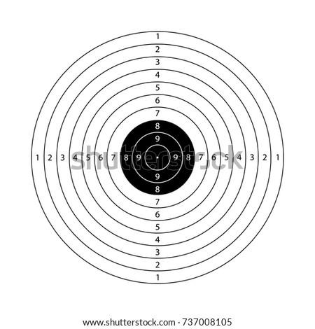 Gun shooting target for printing Stock Photo 139648487 - Avopix com
