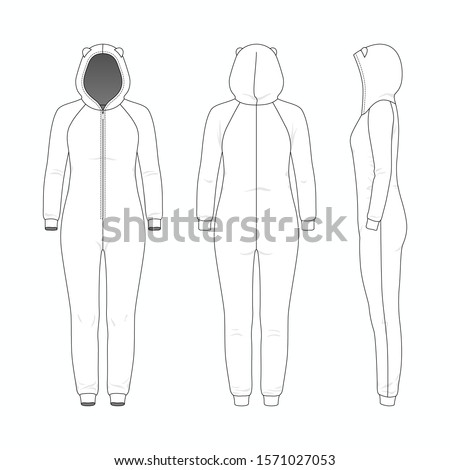 blank templates of woman one