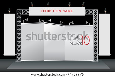 Blank trade exhibition stand. vector template for design work