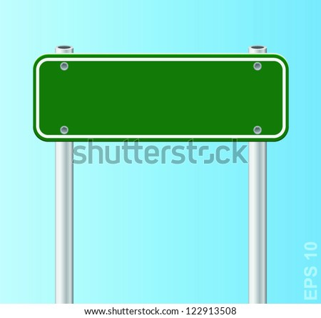 Blank traffic road sign. Vector illustration - stock vector