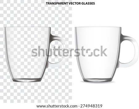blank transparent glass cup