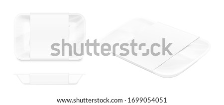 blank tray mockup container