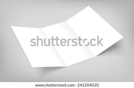 Tri fold brochure blank template free vector download 13522 Free – Blank Tri Fold Brochure Template